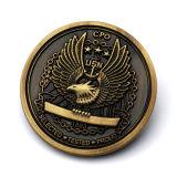 Zhongshan de promoción del proceso de fábrica de oro en 3D en blanco el doble reto de águila Coin