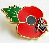 O Lapel da lembrança da flor da papoila do clube do futebol fixa o emblema