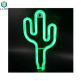 La notte al neon creativa di attaccatura di parete illumina l'indicatore luminoso del cactus LED