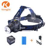 10W Xm-L T6 맨 위 램프 재충전용 너구리 난조 빛