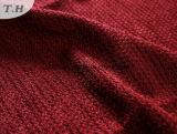 Tessuto rosso 100% del sofà del Chenille del poliestere morbidamente