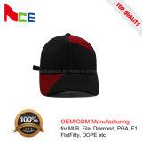 Chapeaux de golf imperméables à l'eau respirables extérieurs structurés par panneau fait sur commande du blanc 6 de coton