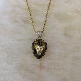 Goldlöwe-Ketten-hängende Halskette Mjhp144 des Mens-24K