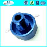 Connecteurs anodisés bleus d'aluminium de rotation d'ajustage de précision de pipe T6 de l'alliage 6061