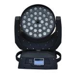 36*10W 4 em 1 iluminação principal movente do disco do DJ do zoom da lavagem de RGBW