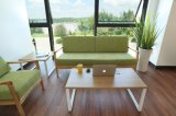 나무로 된 좋은 품질 홈 침대 겸용 소파와 가정 소파를 위한 직물은 3 Seater 거실을 놓았다