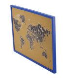 Бюллетень с деревянными Frame-Blue Notic Corkboard ПВХ