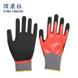 13G Sandy Arbeits-Handschuhe mit dem Finger verstärkten Nitril beschichtet