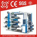 Alta velocidade 2 4 6 máquina de impressão Flexographic não tecida plástica de papel de Flexo do saco da película de 8 cores