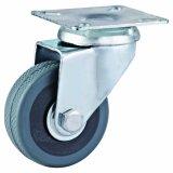 2-5 인치 회색 PVC 피마자 바퀴 (스레드된 줄기)