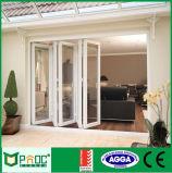 Дверь складчатости европейского стандарта алюминиевая стеклянная