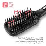 Cepillo de cerámica eléctrico al por mayor del pelo del cepillo de pelo que se endereza
