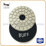 4-дюймовый Diamond черно-белый отполируйте поверхность прокладки для полировки различных камня