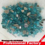 "Chimenea Fireglass Fogata de 1/4"" de vidrio reflectante azul pacífico"