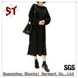 Vestito semplice/generoso su ordine da Hoodie del pullover delle signore di modo con il marchio