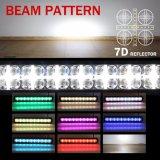 7D de la cruz de 2 filas de 22 pulgadas LED RGB Offroad 4X4 de la barra de luz