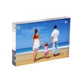 Support clair acrylique de signe de bâti de la photo 4 x 6 avec la fin magnétique