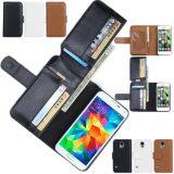 Cas en cuir de Solt de carte de téléphone mobile pour Samsung S6