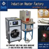 水晶るつぼが付いている超高速の金の溶ける炉の誘導加熱の溶ける金銀製の銅機械