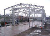 그려진 가벼운 Prefabricated 강철 구조물 작업장
