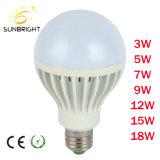 materia prima E27 della lampadina di plastica dell'indicatore luminoso LED di 18W 7000K