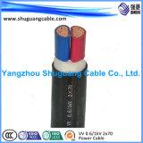 Yjvp 4 сердечника XLPE изолировало силовой кабель обшитый PVC защищаемый
