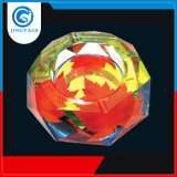 Oito Octangle Cinzeiro de vidro cristal com coloridos