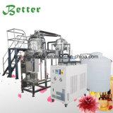 Destilación del agua para los petróleos esenciales