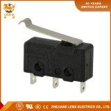 Commutateur micro miniature déplié de levier reconnu par UL de Lema Kw12-5