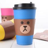 Funda plástica disponible de la taza de la bebida de leche del café lindo de encargo