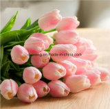 PU-künstliche Blumen-Minitulpe-weiße Tulpe-künstliche Blumen-künstliche Tulpe-Blumen-Vorbereitungs-künstliche Tulpe