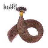 加工されていない20インチのPrebonded Uの先端の卸売のブラジルの人間の毛髪