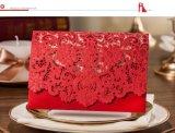 Fontes de casamento rústico elegante Vintage branco vermelho Cartão de Convite de casamento