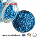 Muestra gratuita de color azul de plástico de Masterbatch de soplado de film soplado/