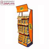 Kundenspezifisches Speicher-Bildschirmanzeige-Zahnstangen-Supermarkt-Zahnstangen-Plätzchen-Schaukarton-Ladenregal