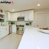 Quarzo bianco di cristallo del quarzo della scintilla della pietra del controsoffitto bianco della cucina