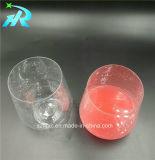 caneca de café redonda plástica do vidro de vinho 12oz
