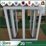UPVCのハリケーンの影響の二重ガラスの開き窓Windows