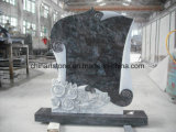 Monumento do granito de China (acima da cruz e da folha) para Cemetry