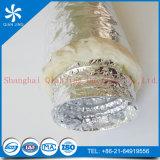 Conducto de aluminio flexible aislado no inflamable de la salida de aire del aislante