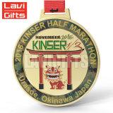 Medalha feita sob encomenda do clube de leão do golfe do metal 3D do fabricante chinês