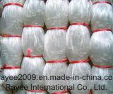 白い単繊維の釣り道具のナイロン漁網