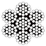 """1/4 """" di corda dell'acciaio inossidabile 7X19 di Diamater 304"""
