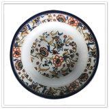 La porcelaine neuve aiment les plaques de dîner rondes d'assiette profonde incassable