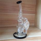 Tubulação de água de vidro de fumo recentemente de vidro de Perc do reciclador