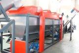 Linea di produzione plastica usata che lava riciclando riga