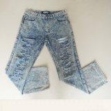 Новым джинсыы сломанные способом моя с прямой ногой и специальной конструкцией для человека (HDMJ0006-17)