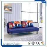 Кровать софы верхней рамки ткани 201 деревянной складывая, мебель софы комнаты хранения живущий