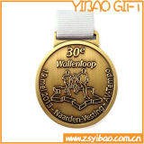 Hot vender medalla de oro en relieve 3D con cinta