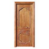 Porte d'entrée chaude de chambre à coucher d'usine de la Chine de porte en bois solide de ventes